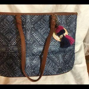 The SAK Pacifica Zipper Tote Large Shoulder Bag